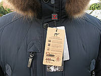 Мужской польский пуховик на верблюжей шерсти