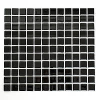 Черная стеклянная мозаика на сетке Vivacer B066R