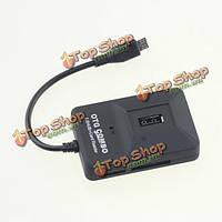 Многофункциональный Micro-USB 2.0 OTG + хаб кард-ридер для андроид мобильного телефона