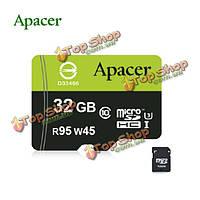 Apacer UHS-1 и3 32Гб R95 W45 TF/Micro-SD карта с адаптером