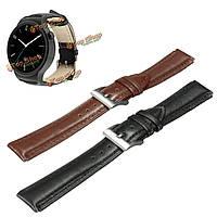 18мм из натуральной кожи ремешок для часов ремешок с 2-мя штырями для Huawei умные часы