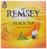 Черный чай Remsey Earl Grey вlack tea черный чай 75 пакетиков Польша