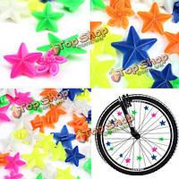 48шт велосипед колеса говорил красочные звезда украшения из бисера отражатель