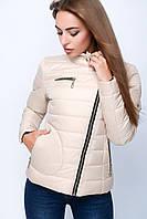 Женская короткая куртка на молнии №35 (плащевка) 40-50 р .