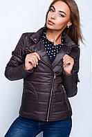 Жіноча коротка куртка на блискавці №35 (плащівка) 40-50 р ., фото 1