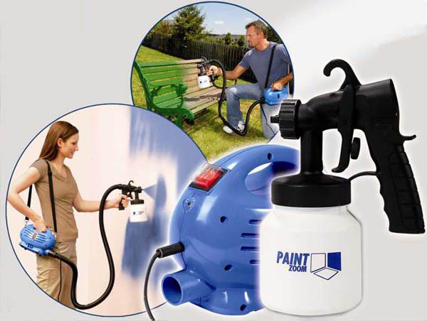 Краскопульт электрический Paint Zoom - инструмент для покраски, фото 1
