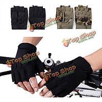 Половина пальца перчатки спортивный комплекс военно анти занос перчатки камуфляж черный Tactical мужчины на открытом воздухе