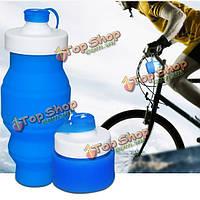 530мл портативный силикон выдвижная складной мягкой чашки воды на открытом воздухе рыбалка путешествия бутылка кемпинга