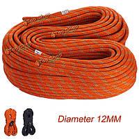 Кемпинг походы диаметр каната 12 мм 1м статическая веревка шнур спасательного строка для обрушения скоростной спуск защиты