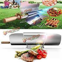 Кемпинг солнечной печи портативный гриль барбекю гриль печь пикника подогревателя еды шашлыка жареной charbroiler