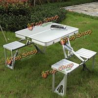 Открытый кемпинг походы складной столик для пикника откидывающийся складной стул столы