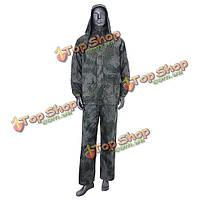 Открытый кемпинг пальто дождя PVC двойного слоя дождевой костюм