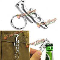 Открытый EDC кармана ключ инструмент цепи брелока клип крюк с открывалка для бутылок шестигранного ключа несколькими функциями