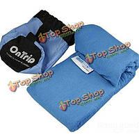 Туристические спальный мешок конверт стиле спальный мешок вкладыш ткани coolmax материал