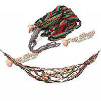 На открытом воздухе кемпинга гамак портативный нейлона качели кровать висит сад сетка кровать
