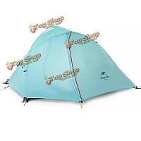 Naturehike 1-2 человек палатки двойные слои ветрозащитной непромокаемые палатки на открытом воздухе кемпинга походы навес