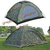 На открытом воздухе 2 человек кемпинг поход палатки военный камуфляжная палатка один слой для бивака охоты