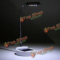 4 LED солнечная энергия гибкие рабочего стола лампа для чтения Лампа