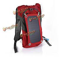 Открытый кемпинг солнечной рюкзак солнечной походы мешок 6.5W панели солнечных батарей с 2.5l мешок воды