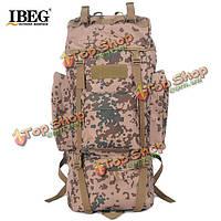 65l тактических военных походов рюкзак рюкзак камуфляжа сумку для кемпинга пешие прогулки