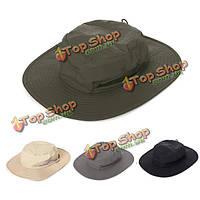 Тактический армейский боевой ведро шляпу от солнца рыбная ловля пешие прогулки кемпинг кап