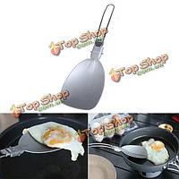 Портативный складной блина токарь пикника еды риса ложка половник из нержавеющей стали алюминиевая посуда