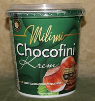 Шоколадно-ореховая паста Chocofini Milimi 400 гр. Польша