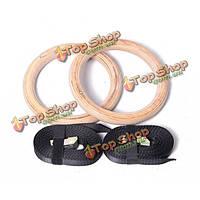 Полноценная березы регулируемые кольца тренажерный зал и домашний гимнастика подтягивания и Upside Down кольца