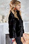 """Шуба из канадской норки BlackNAFA """"Ксения"""" Real mink fur coats jackets, фото 4"""