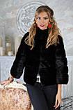 "Шуба з канадської норки BlackNAFA ""Ксенія"" Real mink fur coats jackets, фото 3"