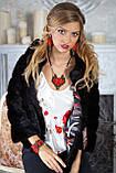 """Шуба из канадской норки BlackNAFA """"Ксения"""" Real mink fur coats jackets, фото 8"""