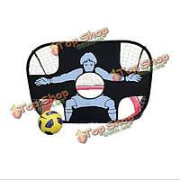 2в1 детей обучение футбол цель портативный складной футбол дверь ребенок игра с мячом