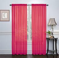 Тюль однотонная  Вуаль ярко-розовый