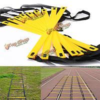 Долговечный 9-ступенька маневренности лестница для футбольных тренировок скорость ног