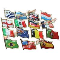 Чемпионат мира по футболу значка национального флага страны бейдж