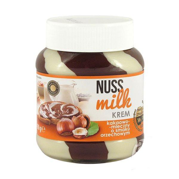 Шоколадная паста Nuss Milk орехово-молочная 400гр. Германия