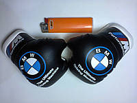 Мини боксерские перчатки в автомобиль BMW M-Performance ЧЕРНЫЕ, подарок, сувенир, брелок