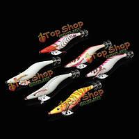 13.5см светящаяся рыба крючок флуоресцентных деревянные креветки кальмары осьминоги каракатицы ложная приманка