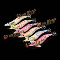 Флуоресцентные 3.5 # кальмара Балки 13см 20г древесины креветки приманки кальмара крючки приманки рыбалка