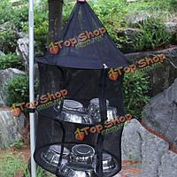 3 слой корзины против комаров висит хранения сушки на открытом воздухе кемпинга рыболовной