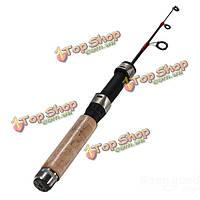 Углерода портативный мини удочка для подледной рыбалки спиннинг полюс 80cm2.62 фута