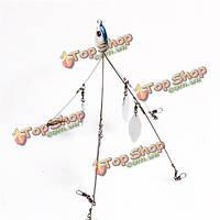 5 рычаг (короткое плечо версия) 4 лопастной Алабама зонтик риг бас приманки приманки