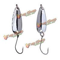 Металл приманки рыбалка классическая верховая рот ложку с блестками бас приманки