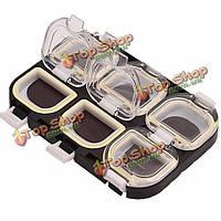 Водонепроницаемый магнит портативный 6 отсеков рыболовные крючки аксессуары коробка