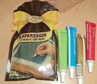Гелвые пищевые карандаши, набор из 4 шт