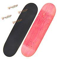 1шт пустой скейтборд палубы предупреждение скейтборд Longboards палуба 31 x 8
