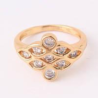 Позолота 24К с циркониями, женское кольцо, ювелирное изделие, размер 18