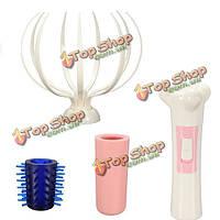 5в1 многофункциональный электрический массажер головы скальп шеи вибрационный массаж тела