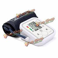 LCD  манжета автоматический артериального давления пульс монитор sphgmomanometer