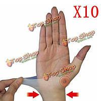 10шт силиконовые магнитной терапии гель запястье теносиновиты растянул скобка перчатка облегчить артрит